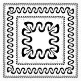Комплект декоративных рамок в различных размерах иллюстрация вектора