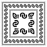 Комплект декоративных рамок в различных размерах Стоковое Изображение RF