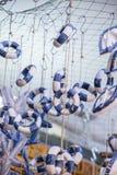 Комплект декоративных спасательных жилетов Стоковые Изображения RF