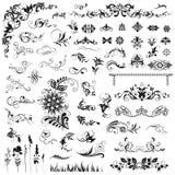 Комплект декоративных элементов Стоковое Изображение