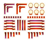 Комплект декоративных элементов Стоковое Изображение RF