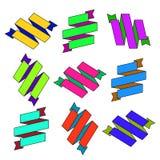Комплект лент зигзага шаржа покрашенных бумагой Стоковая Фотография RF