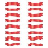 Комплект лент знамен элементов дизайна Стоковые Фото