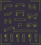 Комплект лент и бирок вектора Стоковое Изображение RF
