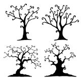 Комплект дерева хеллоуина Стоковые Фотографии RF