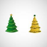 Комплект деревьев вектора на светлой предпосылке Стоковое Фото