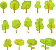 Комплект деревьев Стоковые Изображения