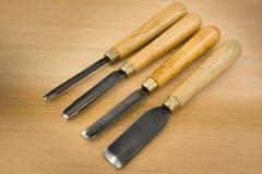 Комплект деревянного зубила для высекать древесину, инструменты скульптуры Стоковое фото RF