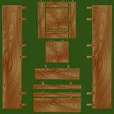 Комплект деревянного, текстурный Стоковая Фотография