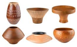 Комплект деревянной вазы Стоковое фото RF