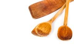 Комплект деревянной ложки кухни Стоковое Изображение