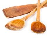 Комплект деревянной ложки кухни Стоковые Изображения