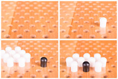 Комплект деревянной доски китайских контролеров Стоковые Изображения RF