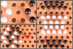 Комплект деревянной доски китайских контролеров Стоковое Изображение