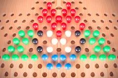 Комплект деревянной доски китайских контролеров Стоковая Фотография