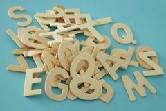 Комплект деревянные письма английского алфавита Стоковое фото RF