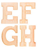 Комплект деревянных букв алфавита Стоковое Фото