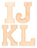 Комплект деревянных букв алфавита Стоковое фото RF
