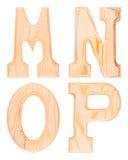 Комплект деревянных букв алфавита Стоковое Изображение RF
