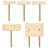 Комплект деревянных доск знака Стоковые Фотографии RF