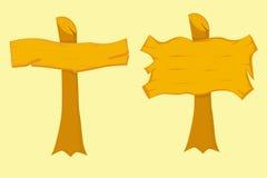 Комплект деревянных доск знака Стоковая Фотография RF