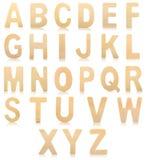 Комплект деревянных писем алфавита Стоковые Изображения