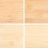 Комплект 4 деревянных предпосылок текстуры Стоковое Фото