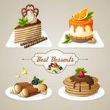 Комплект десерта помадок бесплатная иллюстрация
