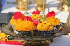 Комплект десерта Стоковые Изображения