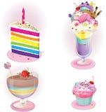 Комплект десерта иллюстрация вектора