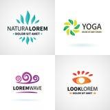 Комплект естественного раздумья здоровья йоги курорта иллюстрация вектора