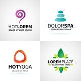 Комплект естественного раздумья здоровья йоги курорта иллюстрация штока