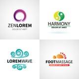 Комплект естественного раздумья здоровья йоги курорта бесплатная иллюстрация