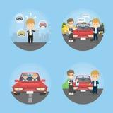 Комплект дела автомобиля иллюстрация вектора