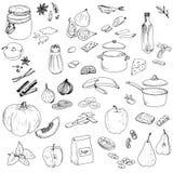 Комплект еды вектора Стоковое Фото