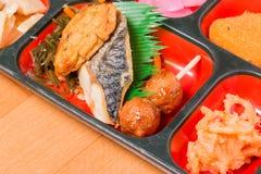Комплект еды Японии Saba зажарил Стоковая Фотография RF