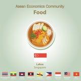 Комплект еды AEC общины экономики АСЕАН Стоковые Фото