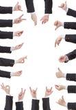 Комплект жеста рукой бизнесмена Стоковое Изображение RF