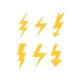 Комплект желтых болтов грома Стоковые Изображения RF
