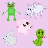 Комплект животных пущи Стоковое Изображение RF
