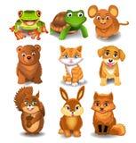 Комплект животных шаржа иллюстрация штока