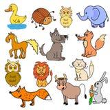 Комплект животных для младенцев Стоковые Изображения