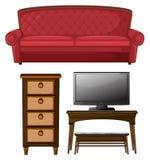 Комплект живущей комнаты Стоковые Изображения RF