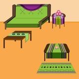 Комплект живущей комнаты Стоковое фото RF