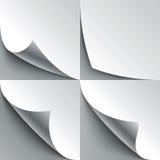 Комплект завитых углов страницы белой бумаги с бесплатная иллюстрация
