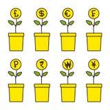 Комплект заводов денег бесплатная иллюстрация