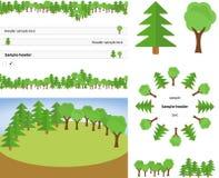 Комплект заголовков леса Стоковое фото RF