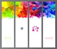 Комплект заголовков цвета Стоковое Изображение