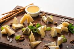 Комплект закусок сыра Стоковое фото RF