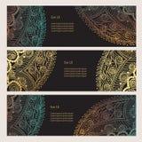 Комплект закладок с красивыми орнаментами Стоковые Изображения